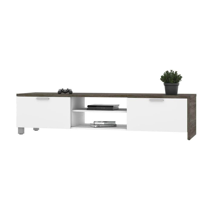 Modubox TV Stand Walnut Grey & White Lucida TV Stand - Rustic Brown & White