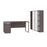 Pending - Bestar Accessories Bark Grey & White Aquarius 3-Piece Set Including a Desk with Single Pedestal and 2 Storage Units with 8 Cubbies - Available in 4 Colors