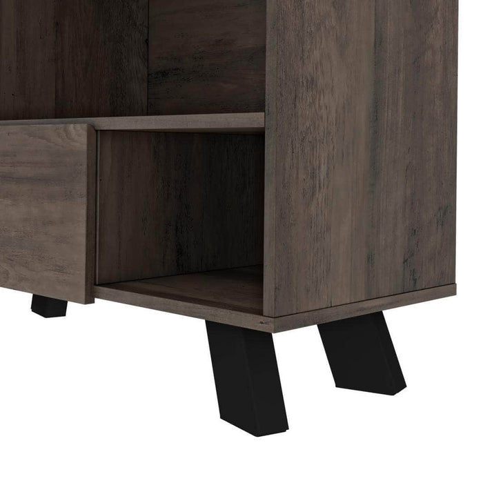 Pending - Bestar Auva Bookcase - Buffalo Brown