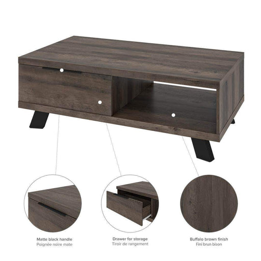 Pending - Bestar Auva Coffee Table - Available in 2 Colors