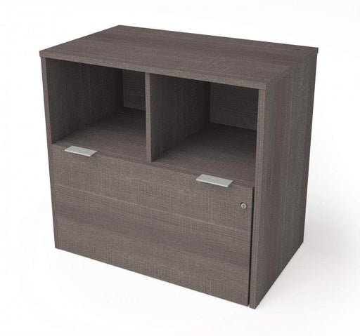 Pending - Bestar Bark Grey i3 Plus Lateral File Cabinet with 1 Drawer - Available in 3 Colors