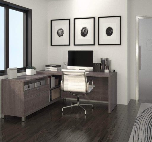 Pending - Bestar Pro-Linea L-Shaped Desk - Available in 3 Colors