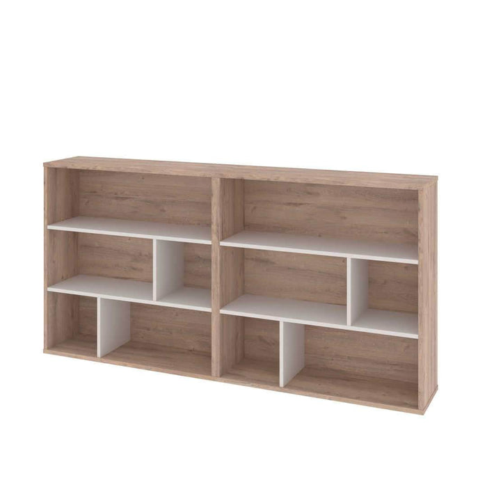 Pending - Bestar Bestar Fom 2-Piece Set including Two Asymmetrical Shelving Units - Rustic Brown & Sandstone