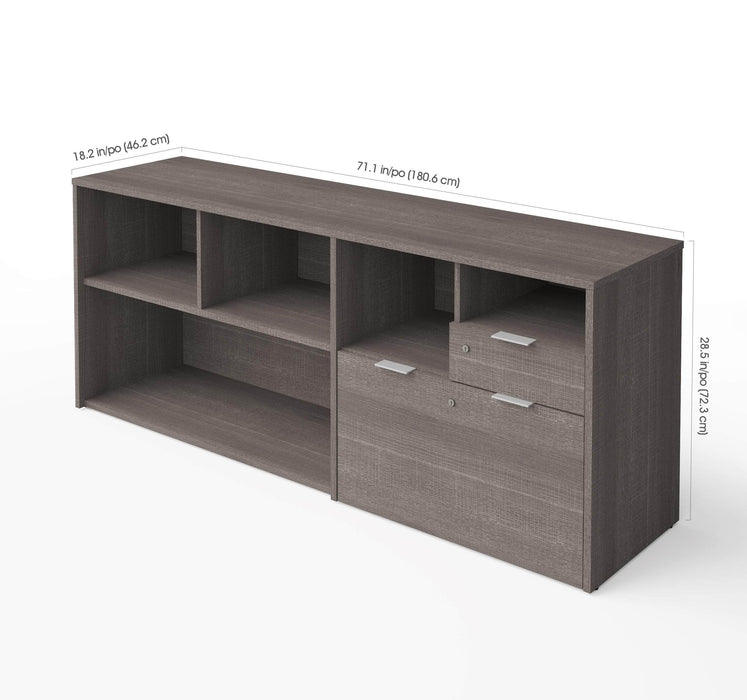Pending - Bestar Bestar i3 Plus Credenza with two drawers - Bark Grey