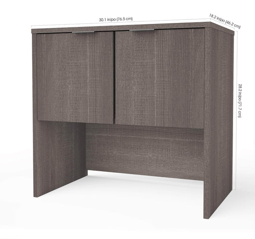 Pending - Bestar Bestar i3 Plus Hutch - Bark Grey