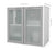 Pending - Bestar Bestar i3 Plus Hutch with Frosted Glass Doors - White