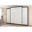 "Pending - Bestar Bestar Nebula 115"" Set including a Queen wall bed and two storage units with drawers - Bark Grey & White"