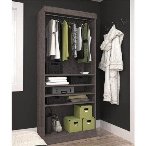 "Pur 36"" Closet Organizer Storage Unit in Bark Grey"