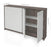 "Pending - Bestar Bestar Small Space 60"" Storage Cabinet - Bark Grey & White"
