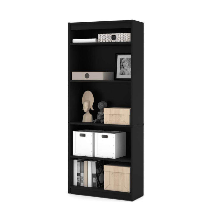 Pending - Bestar Black Universel Standard Bookcase - Available in 9 Colours