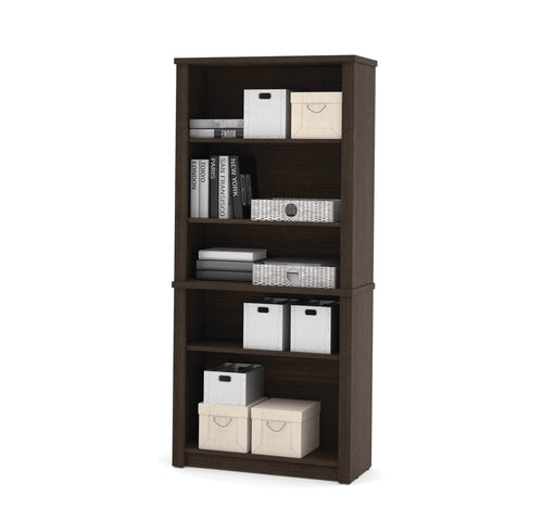 Pending - Bestar Bookcase Dark Chocolate Embassy Bookcase - Dark Chocolate