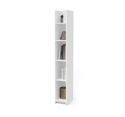 "Pending - Bestar Bookcase White Small Space 10"" Narrow shelving unit - Available in 2 Colours"