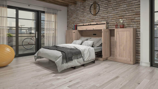 Pending - Bestar Cabinet Bed Pur Full Cabinet Bed with Mattress and 2 36″ Storage Units - Available in 3 Colours