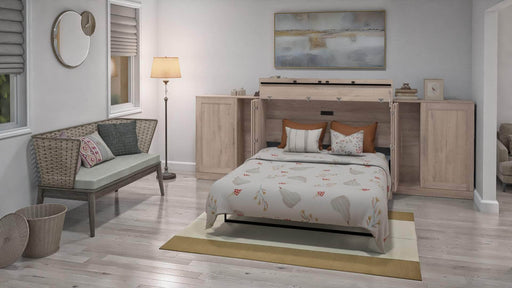 Pending - Bestar Cabinet Bed Pur Queen Cabinet Bed with Mattress and 2 36″ Storage Units - Available in 3 Colors