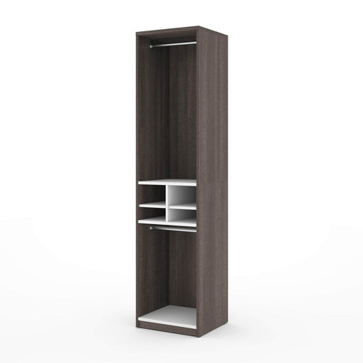 "Pending - Bestar Closet Organizer Bark Grey & White Cielo 19.5"" Closet Organizer with Storage Cubbies - Bark Grey & White"