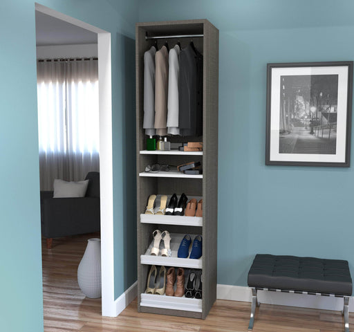 "Pending - Bestar Closet Organizer Cielo 19.5"" Closet Organizer - Available in 2 Colors"
