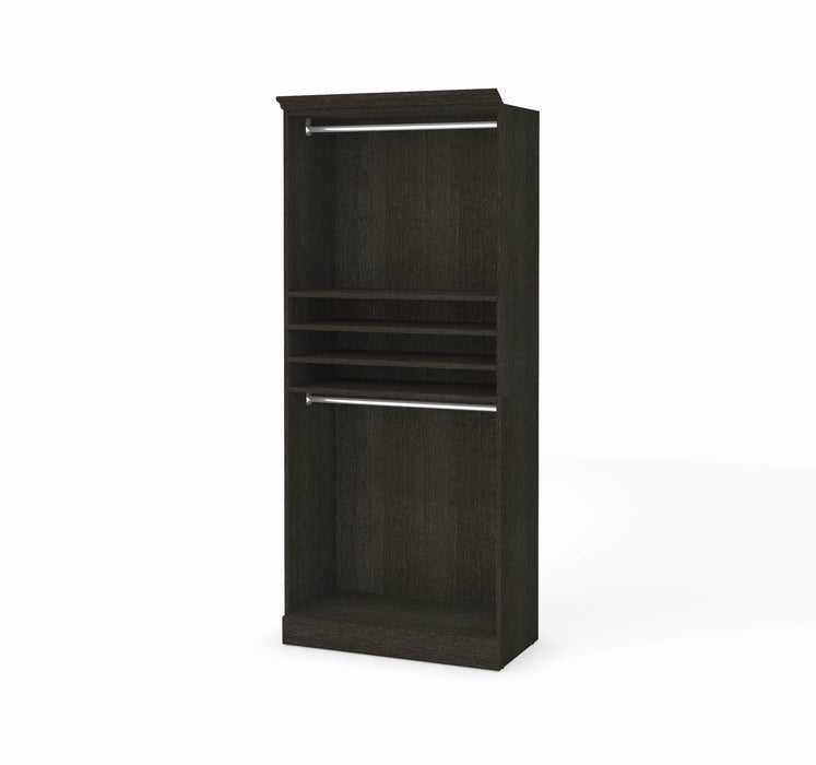 "Pending - Bestar Closet Organizer Deep Grey Versatile 36"" Closet Organizer - Available in 2 Colors"