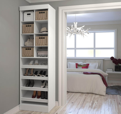 "Pending - Bestar Closet Organizer Pur 25"" Closet Organizer - Available in 3 Colors"
