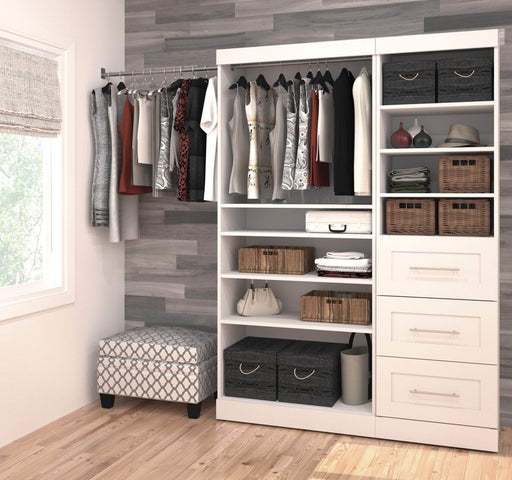 Pending - Bestar Closet Organizer Pur 61W Closet Organizer - Available in 3 Colours