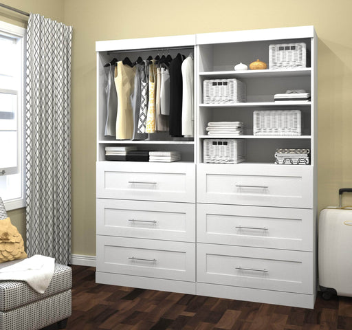"Pending - Bestar Closet Organizer Pur 72"" Closet Organizer - Available in 4 Colours"