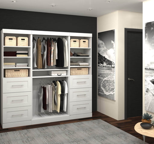 "Pending - Bestar Closet Organizer Pur 86"" Closet Organizer - Available in 3 Colours"