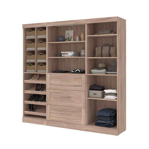 "Pending - Bestar Closet Organizer Pur 86"" Closet Organizer with Storage Cubbies - Available in 3 Colors"