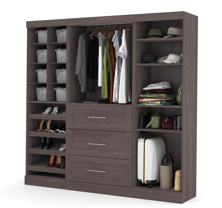 "Pending - Bestar Closet Organizer Pur 86"" Closet Organizer with Storage Cubbies - Available in 3 Colours"