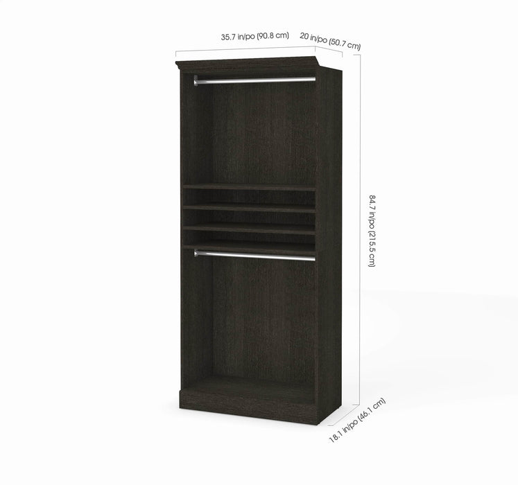 "Pending - Bestar Closet Organizer Versatile 36"" Closet Organizer - Available in 2 Colors"