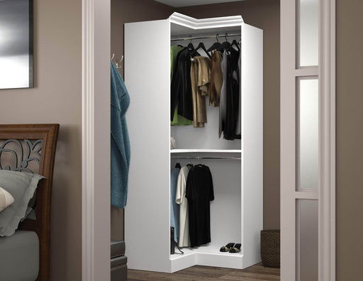 "Pending - Bestar Closet Organizer Versatile 36"" Corner Closet Organizer - Available in 2 Colors"