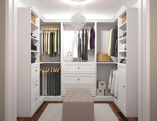 Pending - Bestar Closet Organizer Versatile U-Shaped Walk-In Closet Organizer - Available in 2 Colors