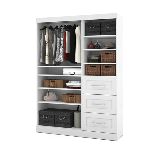 Pending - Bestar Closet Organizer White Pur 61W Closet Organizer - Available in 3 Colours