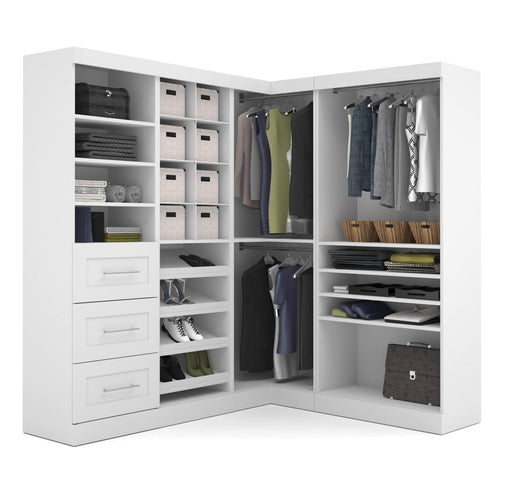 Pending - Bestar Closet Organizer White Pur 83W Walk-In Closet Organizer - Available in 2 Colours