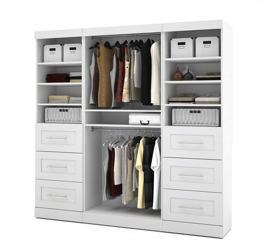 "Pending - Bestar Closet Organizer White Pur 86"" Closet Organizer - Available in 3 Colours"