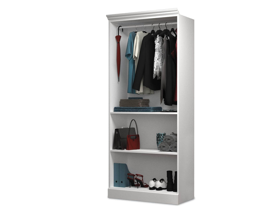 "Pending - Bestar Closet Organizer White Versatile 36"" Closet Organizer - Available in 2 Colors"