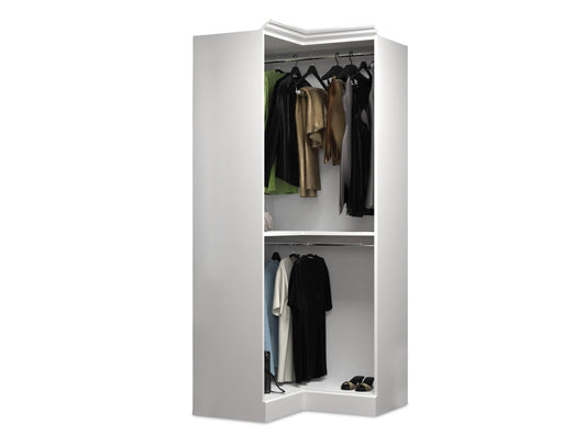 "Pending - Bestar Closet Organizer White Versatile 36"" Corner Closet Organizer - Available in 2 Colors"