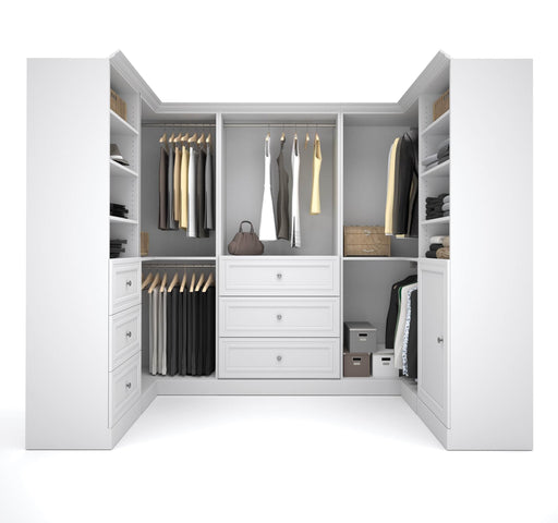 Pending - Bestar Closet Organizer White Versatile U-Shaped Walk-In Closet Organizer - Available in 2 Colours