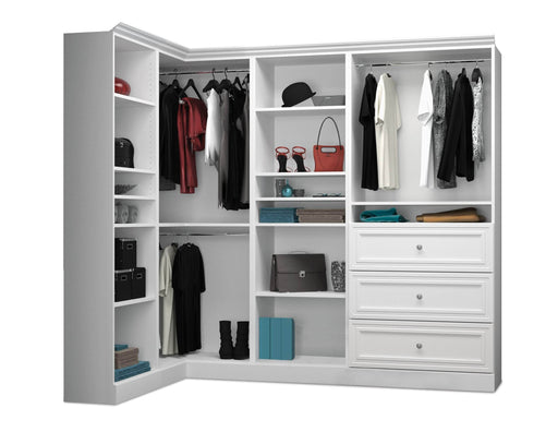 Pending - Bestar Closet Organizer White Versatile Walk-In Closet Organizer - Available in 2 Colors