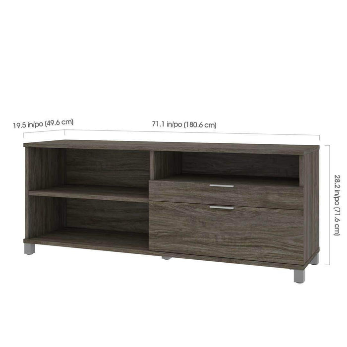 Pending - Bestar Credenza with 2 Drawers - Available in 5 Colors