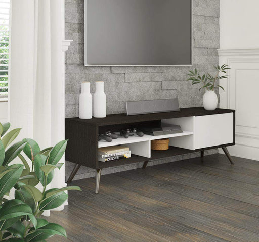 "Pending - Bestar Deep Grey Krom 54"" TV Stand with Metal Legs - Available in 2 Colours"
