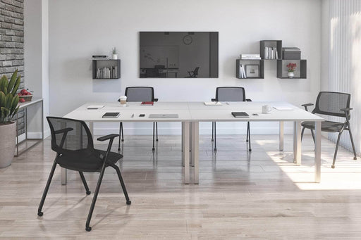 Pending - Bestar Desk Sets Universel 4-Piece Set Including Four 30″ × 60″ Table desks with square metal legs - Available in 3 Colors