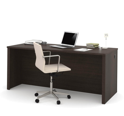 Pending - Bestar Desk Shell Dark Chocolate Embassy Desk Shell - Available in 2 Colors - 1