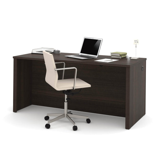 Pending - Bestar Desk Shell Dark Chocolate Embassy Desk Shell - Available in 2 Colors