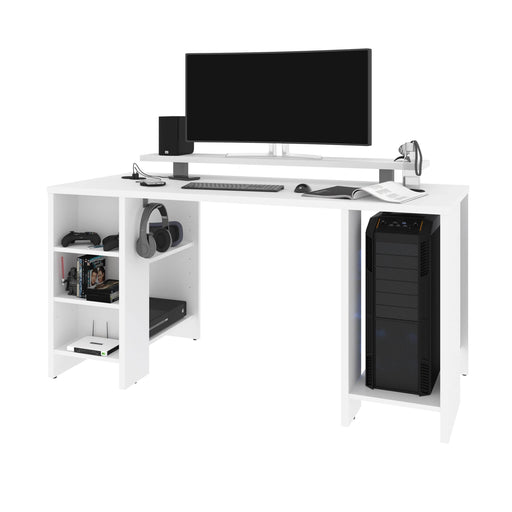 Bestar Gaming Desk Electra 60W Gaming Desk In White