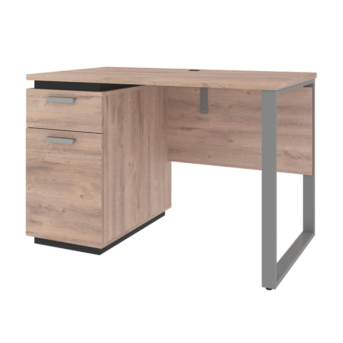 Pending - Bestar Desks Rustic Brown & Graphite Aquarius 45W Small Desk - Available in 3 Colors