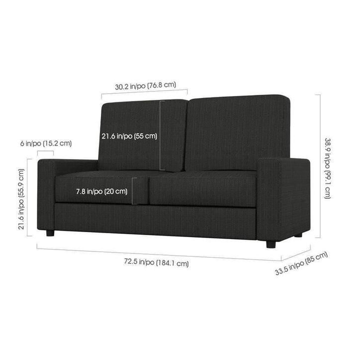 Pending - Bestar Edge Full Wall Bed and Sofa - Available in 2 Colors