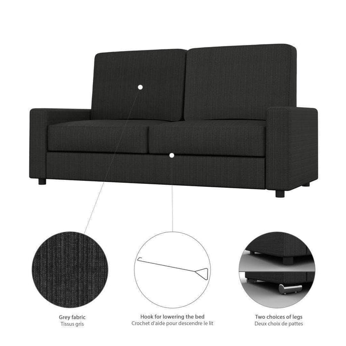 Pending - Bestar Edge Queen Wall Bed and Sofa - Available in 2 Colors