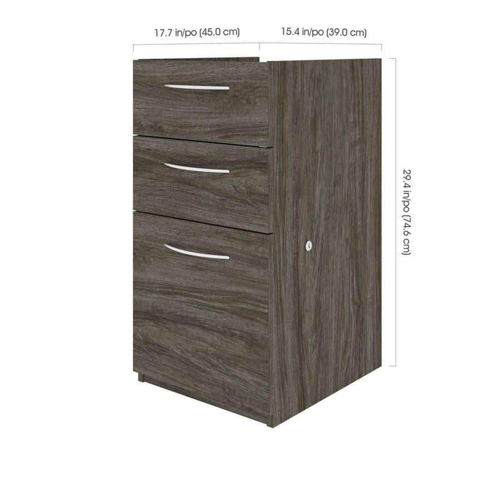 Pending - Bestar Embassy Add-On Pedestal with 3 Drawers - Available in 3 Cloours