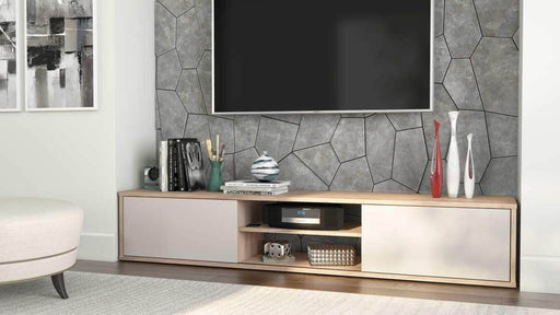 Fom TV Stand - Rustic Brown & Sandstone