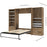 Pending - Bestar Full Murphy Bed Cielo Full Murphy Bed and 2 Storage Cabinets with Drawers (118W) - Available in 2 Colors