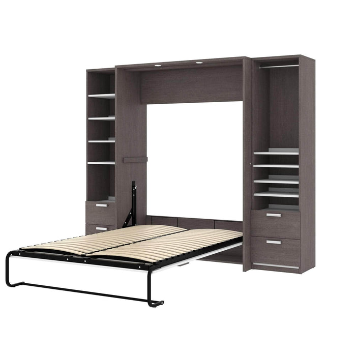 Pending - Bestar Full Murphy Bed Cielo Full Murphy Bed and 2 Storage Cabinets with Drawers (98W) - Available in 2 Colors